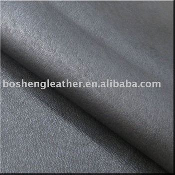 Dark Grey Genuine Pigskin For Boot's Lining Leather
