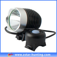 Zstar china ZSBL0002 black XML-T6 1200LM led bright aluminum rechargeable headlamp