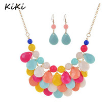 >>>New Fashion Chokers For Women Jewellery Acrylic Beaded Necklaces Bib Bubble Statement Necklace