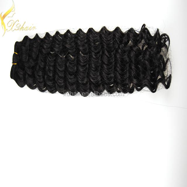 mink virgin peruvian deep wave hair , expensive human hair weaves with hair extension price