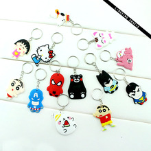 Marvel cartoon Rubber keychain with custom package in high quality