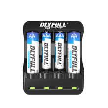 Original DLYFULL AA AAA Battery Charger USB 4 Ports NiMH NiCd Batteries Charger for RC Camera Toys Electronics