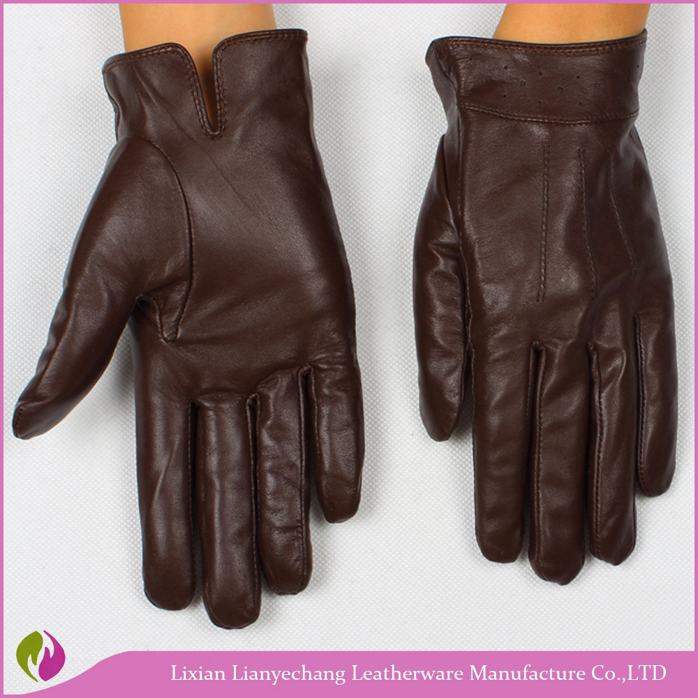 wholesale cheap price pig leather safety work gloves