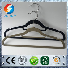 Multifunctional dress shape scarf hangers wet clothes hanger non slip flocked coat hanger online shopping
