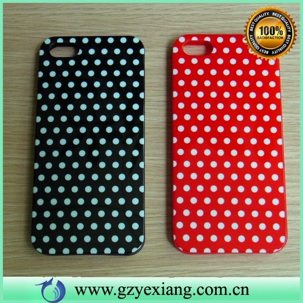 fashionable imd polka dots phone case for iphone 5c covers case