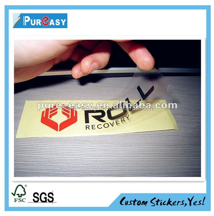 Customize clear sticker with company logos