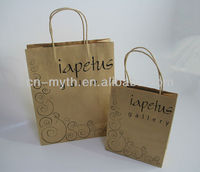 twist handle brown kraft paper bag