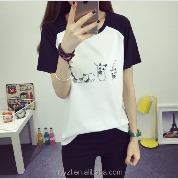 customized striped Tee for men and women half black half white tshirt