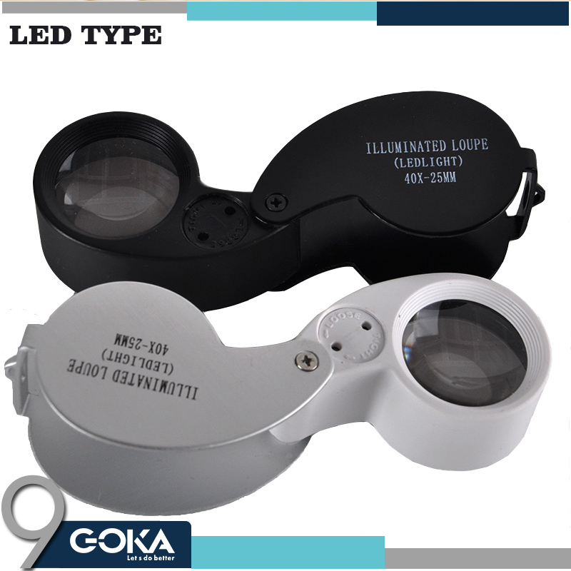 40x 25mm Lens Jewelry Magnifier with LED loupe