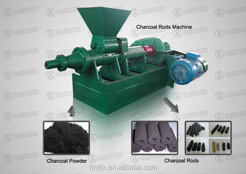 Charcoal Rods Machine with good price /Pulverized coal charcoal machine