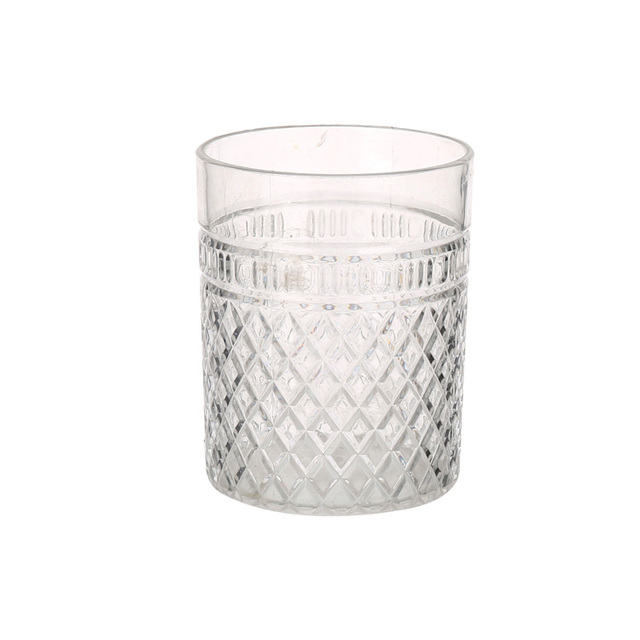 Bar Club Clear Acrylic Water Tumbler Crystal Cold Beer Mugs 400ml