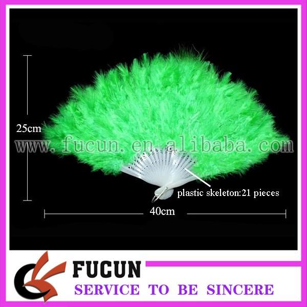 21 green ostrich feather fan size.jpg
