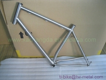 29er Titanium MTB bicycle frames with 44mm bigger head tube Customized mountain bike frame