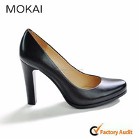 MK009-1 BLACK COW LEATHER Women Ladies Fashion Office Wholesale Shoes