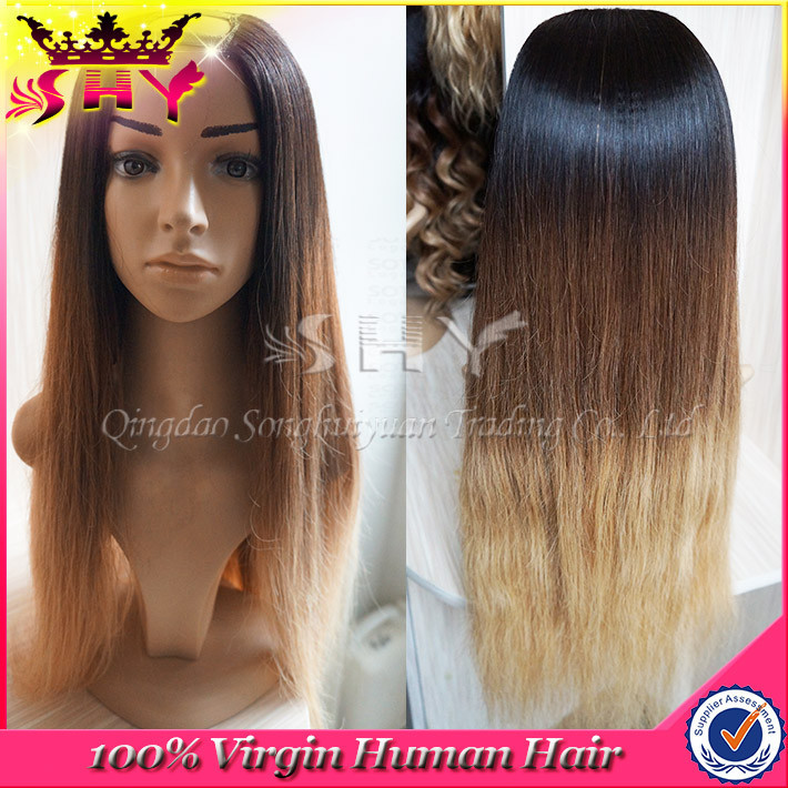 2015 Wholesale straight brazilian human hair cheap u part wigs for sale