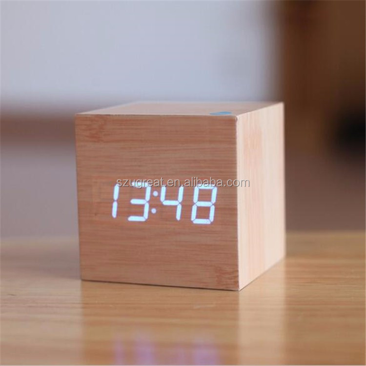 2016 wood ce digital alarm clock table clock desk alarm clocks
