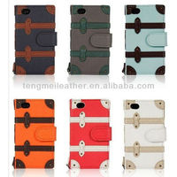 Luggage Suitcase Style PU Leather Hard Case For iPhone5S 5C,For iPhone 5S 5C Waterproof Case