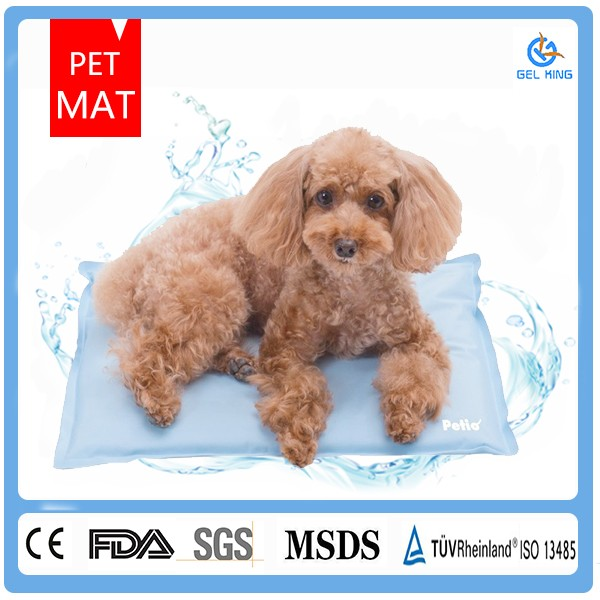 New Thermal Comfort Cooling Gel Pet Pad Soft Dog Cat Blue Mat House Chilly Bed