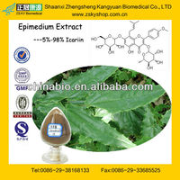 GMP Factory Supply High Quality Icariin 50% 60% 80% 98% Epimedium Extract