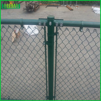 2016 high quality green chain link fence panels
