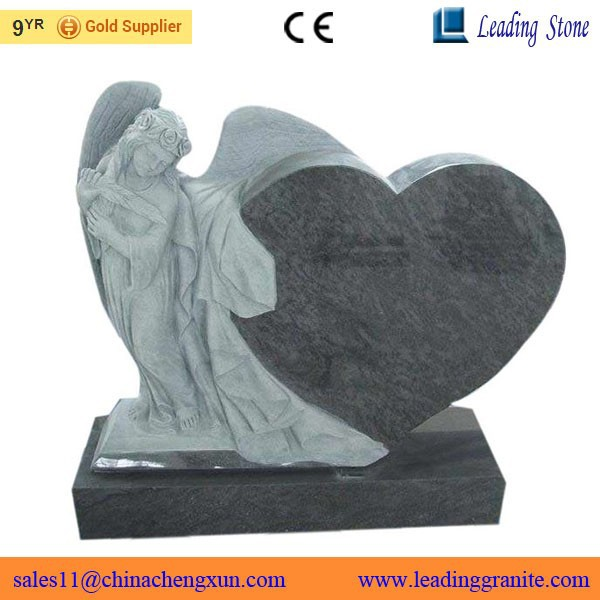 Best quality granite tombstone with angel