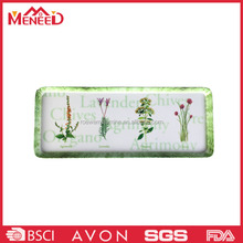 Festival use custom logo design beautiful flower print melamine beverage serving tray