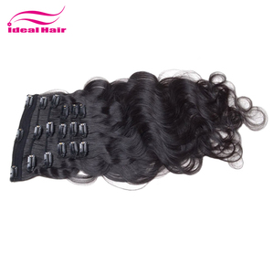 Guangzhou unprocessed one piece clip in human hair extensions,cheap 36 inch hair extensions clip in