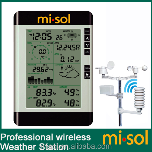 Pro Wireless home Weather Station with PC connection wind speed weather forecast WH-2081-1