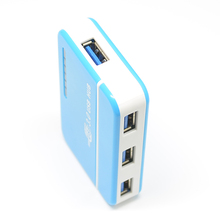 Superspeed USB3.0 4 port USB Hub Compact Aluminum Hub with 2-Foot USB 3.0 Cable