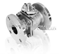 "Wenzhou China Manufacturer CF8M Stainless Steel 1"" 2"" 10K Flange MANUAL JIS medium temperature 2-pc Ball Valve Price list"