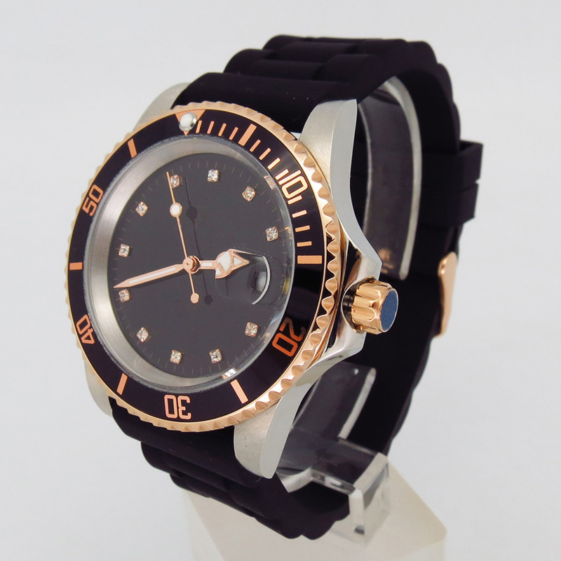 Brand you own logo Diver Automatic Watch silicone strap sports watch