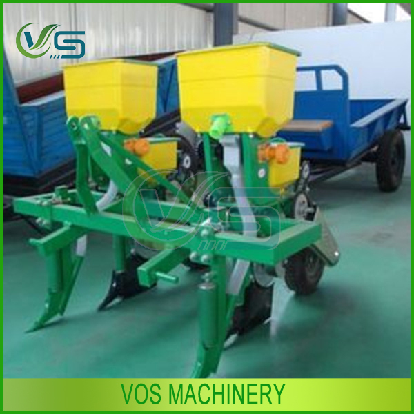 Home used mini corn soybean seeder agricultural machinery/2 rows mini seeder with fertilizer box