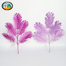 Artificial Christmas tree decoraions artificial glitter leaf