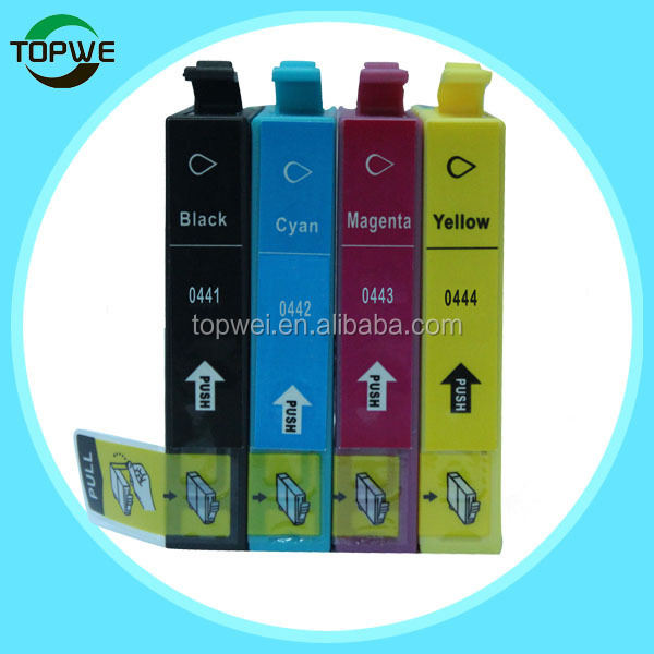one time used ink cartridge for epson t0441 t0442 t0443 t0444 with dye ink