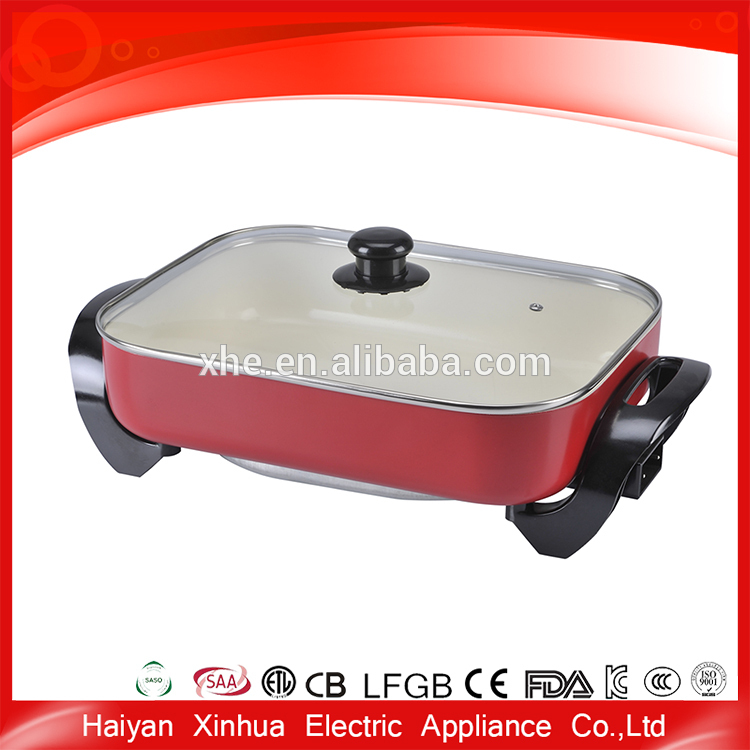 Non-stick safety easy cleaned electric mini skillet