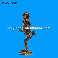 Collectable art brass table decoration Jazz Figurines