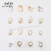 Stainless steel jewelry findings clip on earring converter findings with pad
