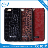 Alibaba Express High Fashion CROCO TPU Leather Cell Phone Cover Case for iPhone 6S/6