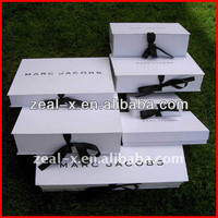 Good quality solid full color package shoe box make up brush set