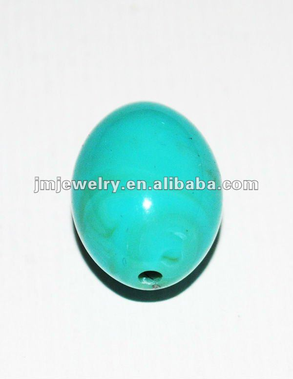 bright light turquoise plastic rosary cloud beads for jewelry making