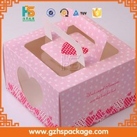 custom cheap folding take away food packing cupcake box