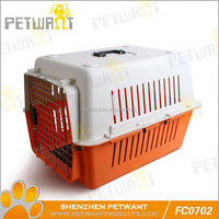 Selected material 3 doors folding dog crate cage kennel w/metal pan