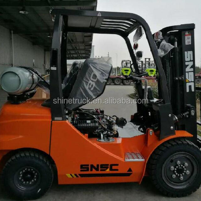 SNSC LPG forklift 3ton with automatic hydraulic transmission