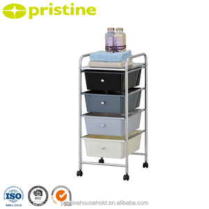 Taiwan manufacturer Low MOQ 30 plastic drawer trolley with wheels