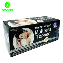 40 Density memory foam mattress topper with bamboo cover vacuum pack