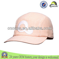 OEM 5 panel hat high quality full snakeskin leather snapback hat/cap snap back with metal logo on front