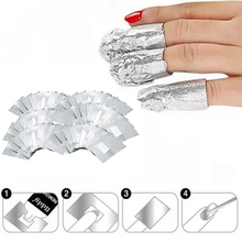 Aluminium Foil Nail Art Soak Off Acrylic Gel Polish Nail Removal Wraps Remover Makeup Tool Cleaner Wraps