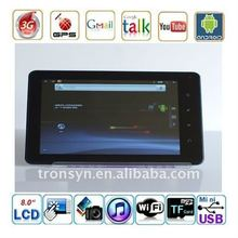 8 inch Capacitance Screen 10 Point touch control tablet pc