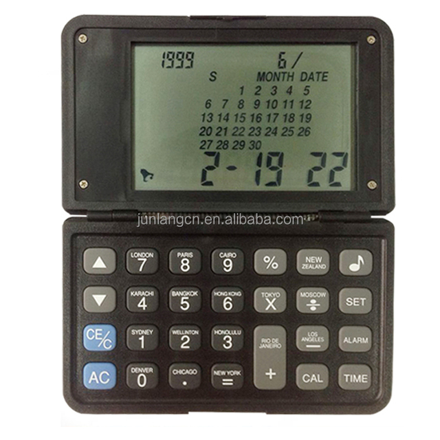 8 Digit calculator with calendar clock multifunction calculator panel calculator