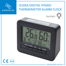 Household Desk Digital Alarm Clock Thermometer And Hygrometer With LED Backlight And Comfortable Index